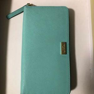 Kate spade aqua wallet